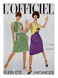 L'Officiel, June 1965 - Robes de Guy Laroche en Toile de Lin de Moreau Premium Giclee Print by  Walcott