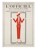 L'Officiel, March-April 1923 - Bolchevick Print by Martial et Armand