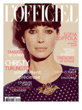 L'Officiel, November 2011 - Christy Turlington Prints by Guy Aroch