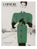 L&#39;Officiel, April 1946 - Ensemble de Patou Prints by  Benito