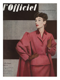 L'Officiel, September 1952 - Tailleur de Christian Dior Posters by Philippe Pottier