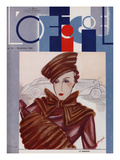 L'Officiel, November 1934 - Le Monnier Prints by S. Chompré & A.P. Covillot