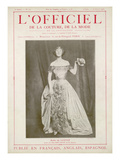 L'Officiel, June-July 1923 - Miss Nany Payne Au Bal Gavarni en Robe de Lucile Prints by  D'Orn