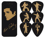 Elvis Presley - Gold Portrait Guitar Picks Plektre