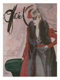 L'Officiel, November 1942 - Jean Dessèschapeau de Coralieplumes de Maurice Gaybi/Ou de Mauboussin Posters by  Lbenigni