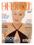 L'Officiel, April 1996 - Karen Mulder Habillée Par Céline Premium Giclee Print by Jean-Daniel Lorieux