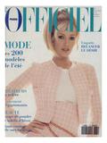 L'Officiel, February 1994 - Karen Mulder Print by Francesco Scavullo