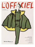 L'Officiel, Winter Special Issue - Ensemble de Robert Piguet, Tissu Lesur Print by Bernard Blossac