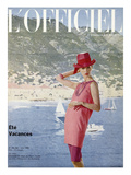 L'Officiel, June 1963 - Ensemble de Plage de Pierre Cardin en Toile Malouine de Ducharne Prints by Arsac & Manoug