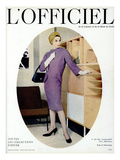 L'Officiel, October 1957 - Robe de Balenciaga Posters by Philippe Pottier