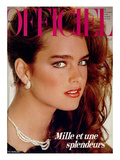 L'Officiel, December 1981 - Brooke Shields Premium Giclee Print by Jean-Daniel Lorieux