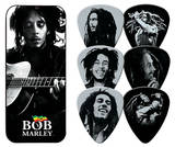 Bob Marley - Silver Portrait Guitar Picks Médiators pour guitare