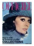 L'Officiel, 1975 - Sophia Loren, Chapeau de Jean Barthet, en Mousseline de Mohair Surpiquée Posters by  Guégan