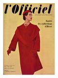 L'Officiel, October 1954 - Hubert de Givenchy, Manteau en Lainage de Ducharne Posters by Philippe Pottier