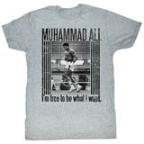 Muhammad Ali - Free To Be T-Shirts