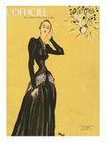 L'Officiel, December 1945 - Robe de Maggy Rouff Kunstdrucke von  Benito