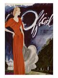 L'Officiel, December 1935 - Madeleine Vionnet Poster von  Lbenigni