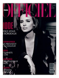 L&#39;Officiel, October-November 1992 - Lara Harris, Qui Porte une Veste Smoking de Giorgio Armani Prints by Peter Lindbergh