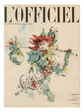 L'Officiel, February 1950 - Printemps Premium Giclee Print by Pierre Pagès