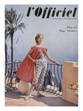 L'Officiel, June 1954 - Ensemble de Plage de Jacques Heim Posters by Philippe Pottier