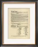 Constitution of the United States Framed Giclee Print