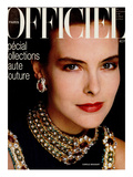 L'Officiel, March 1986 - Carole Bouquet Prints by Steven Silverstein