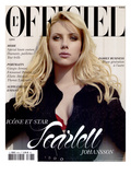 L&#39;Officiel 2005 - Scarlett Johansson Porte un Trench en Soie Noir Paillet&#233; Dior par John Galliano Print by David Ferma