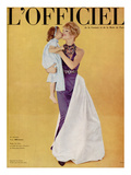 L'Officiel - Robe de Grès en Satin de Soie Ducal de Bianchini-Férier Prints by Philippe Pottier
