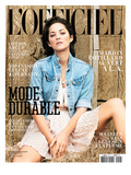L'Officiel, March 2010 - Marion Cotillard Porte une Robe en Soie, Dior Prints by Koto Bolofo