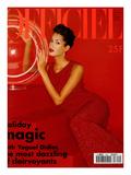 L'Officiel, December 1994 - Yasmeen Ghauri Porte du Dolce & Gabbana Posters by Francesco Scavullo