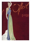 L'Officiel, April 1936 - Madeleine Vionnet Print by  Lbenigni