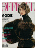 L'Officiel, October-November 1991 - Nicole Habillée Par Yves Saint Laurent Fourrures Posters par Donna de Mari
