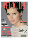 L'Officiel, March 1994 - Isabella Rossellini A Choisi Emanuel Ungaro Premium Giclee Print by Francesco Scavullo