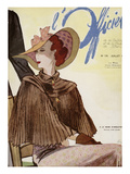 L&#39;Officiel, July 1936 - A La Reigne d&#39;Angleterre Prints by  Lbenigni