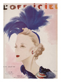 L'Officiel, July 1937 - Maria Guy Premium Giclee Print by  Lbenigni