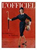 L'Officiel, March 1959 - Tailleur de Christian Dior en Lainage Matignon de Dormeuil Poster by  Arsac