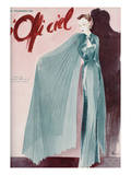 L'Officiel, December 1936 - Réveillon Nina Ricci Poster by  Lbenigni