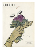 L&#39;Officiel - Chapeaux de Printemps, Tissus d&#39;&#201;t&#233; Poster by  Mourgue