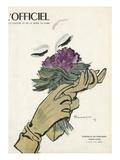 L'Officiel - Chapeaux de Printemps, Tissus d'Été Poster by  Mourgue
