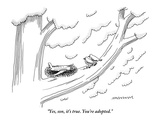 """""""Yes, son, it's true. You're adopted."""" - New Yorker Cartoon Premium Giclee Print by Mick Stevens"""
