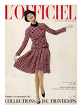 L'Officiel, March 1965 - Tailleur de Christian Dior Entopkapi Pure Laine Peignée de Raimon Prints by  Guégan