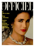 L'Officiel, April 1986 - Andie MacDowell Premium Giclee Print by Nancy LeVine