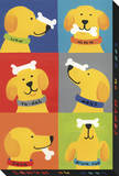 Tricks 6 Dog Pictures Stretched Canvas Print