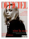 L'Officiel, 2003 - Emmanuelle Béart Porte une Veste en Coton et Soie Noire Dolce & Gabbana Affiches par Anuschka Bloomers & Niels Schumm