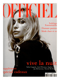 L'Officiel, 2003 - Emmanuelle Béart Porte une Veste en Coton et Soie Noire Dolce & Gabbana Posters van Anuschka Bloomers & Niels Schumm