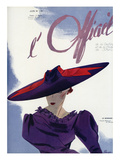 L'Officiel, June 1936 - Le Monnier Poster van Lbenigni