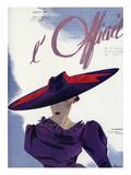 L'Officiel, June 1936 - Le Monnier Poster van  Lbenigni
