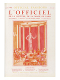 L'Officiel, August 1925 - La Belle Que Voilà Posters by Lucien Lelong
