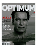 L'Optimum, November 2004 - Arnold Schwarzenegger Art by Eddie Adams