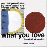 What You Love with Red Blue and White Stretched Canvas Print by  KOCO